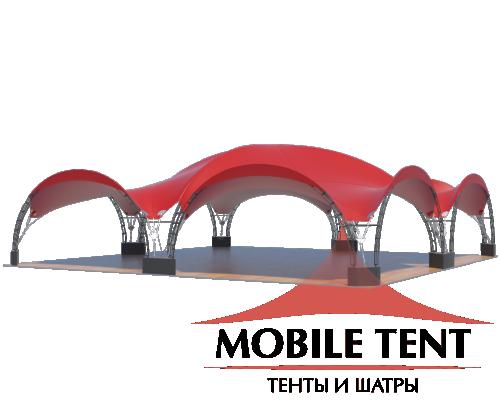 Арочный шатёр 12х12 — 144 м² Схема 2