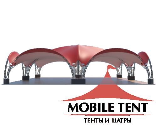 Арочный шатёр 20х20 — 400 м² Схема 1