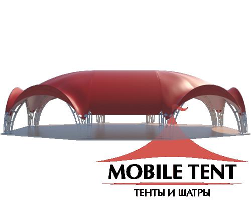 Арочный шатёр 21х16 — 336 м² Схема 1