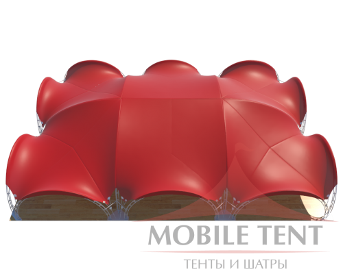 Арочный шатёр 24х16 — 384 м² Схема