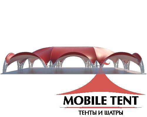 Арочный шатёр 24х16 — 384 м² Схема 1