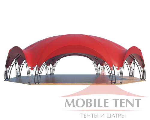 Арочный шатёр 27х20 — 460 м² Схема 2