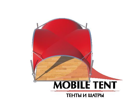 Арочный шатёр 5х5 — 25 м² Схема