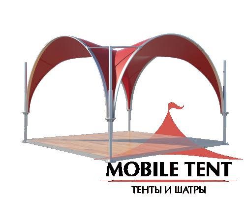 Арочный шатёр 5х5 — 25 м² Схема 3