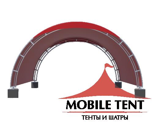 Арочный шатёр 6х5 — 30 м² Схема 1