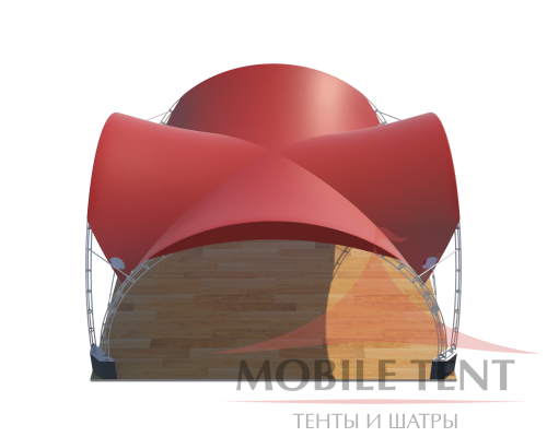 Арочный шатёр 6х6 — 36 м² Схема
