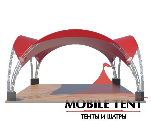 Арочный шатёр 6х6 — 36 м² Схема 1