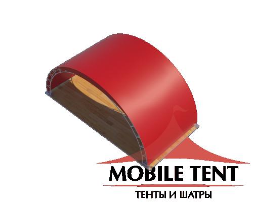 Арочный шатёр 8х4 — 32 м² Схема 4