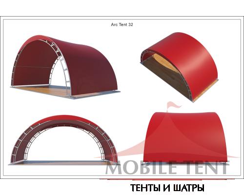 Арочный шатёр 8х4 — 32 м² Схема 5