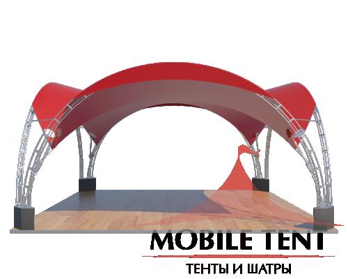 Арочный шатёр 8х8 — 64 м² Схема 3