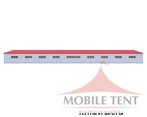 Каркасный ангар 40х100 м Схема 3