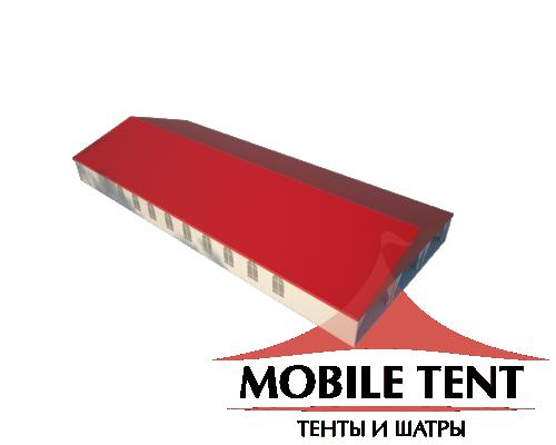 Классический шатёр 15х35 Схема