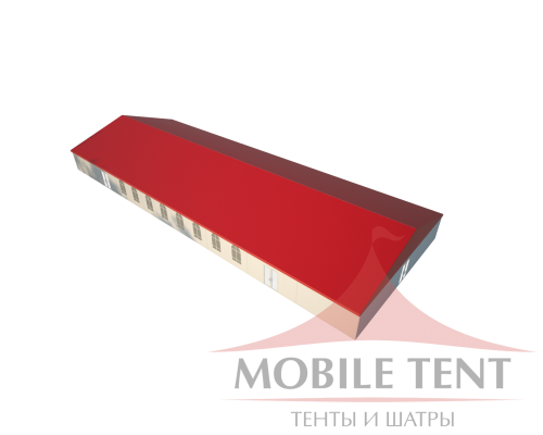 Классический шатёр 15х40 Схема