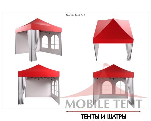 Мобильный шатёр Prof 3х3 Схема 4
