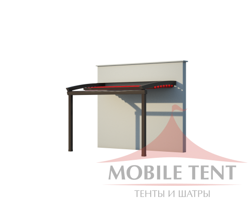 Пергола для кафе Стандарт 3х5 Схема