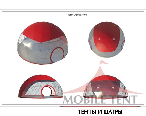 Купольный шатер диаметр 10 м Схема 5