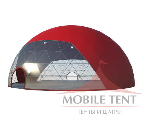 Сферический шатер диаметр 25 м Схема 1