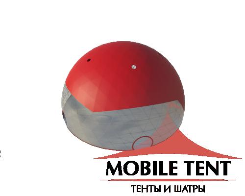 Сферический шатер диаметр 30 м Схема