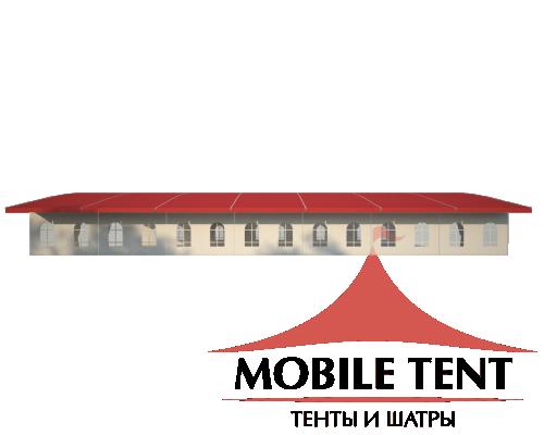 Шатёр для выставок 15х35 Схема 3