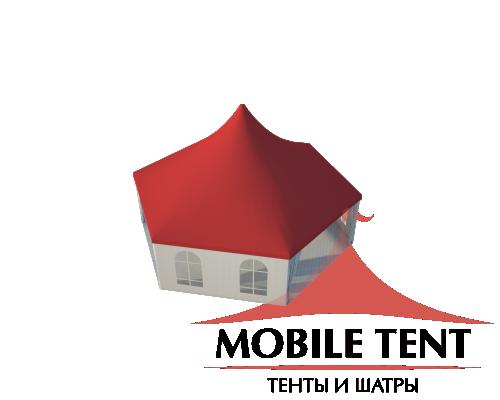Шестигранный шатёр Римини (Диаметр 10 м) Схема