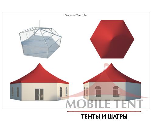 Шестигранный шатёр Стандарт (Диаметр 12 м) Схема 5