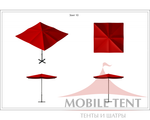 Зонт Desert 2х2 Схема 1