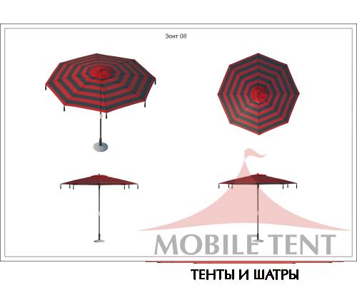 Зонт для кафе Tiger диаметр 4 Схема 1
