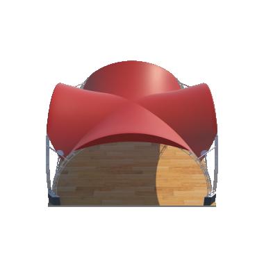 Арочный шатёр 10х10 — 100 м² Схема