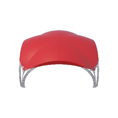 Арочный шатёр 8х8 — 64м²(V) Схема