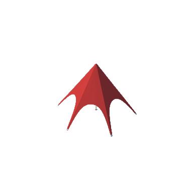 Шатёр Звезда (Диаметр 8 м) Схема