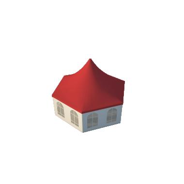 Шестигранный шатёр Стандарт (Диаметр 8 м) Схема