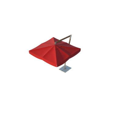 Зонт для кафе Premium Side 3х3 Схема