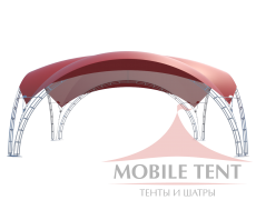 Арочный шатёр 10х10 — 100 м²(V) Схема 1