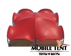 Арочный шатёр 16х16 — 256 м² Схема