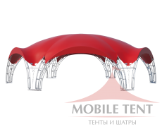 Арочный шатёр 20х17 — 260 м² Схема 1