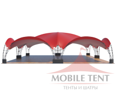 Арочный шатёр 20х20 — 400 м² Схема 3