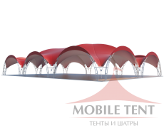 Арочный шатёр 24х16 — 384 м² Схема 3