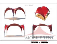 Арочный шатёр 3.5х3.5 — 12,25 м²(V) Схема 5