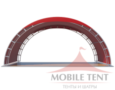 Арочный шатёр 8х4 — 32 м² Схема 1