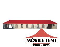 Классический шатёр 15х25 Схема 3