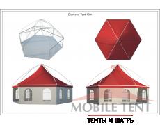 Шестигранный шатёр Лондон (Диаметр 10 м) Схема 5