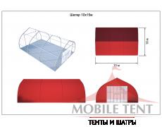 Тентовый ангар 10х15 Схема 4