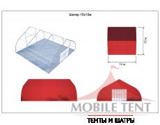 Тентовый ангар 15х15 Схема 5