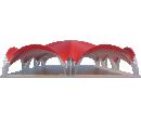 Арочный шатёр 24х16 — 384 м² Схема 2
