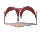 Арочный шатёр 5х5 — 25 м²(V) Схема 3