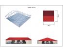 Классический шатёр 25х25 Схема 5