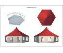 Шестигранный шатёр Стандарт (Диаметр 10 м) Схема 5
